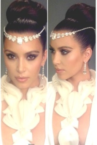 Kim Kardashian rocking the look Image: Pinterest.com